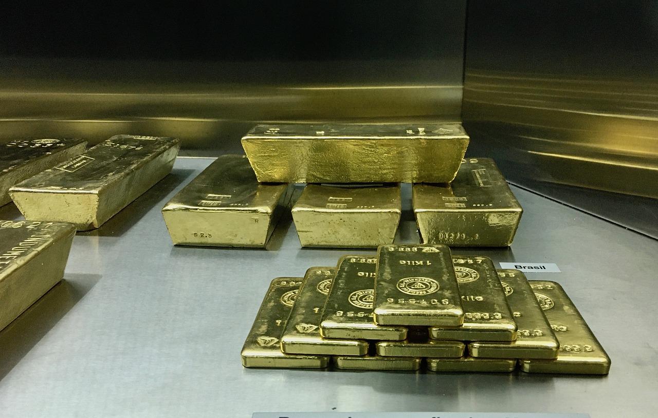 sztabki złota na lokacie